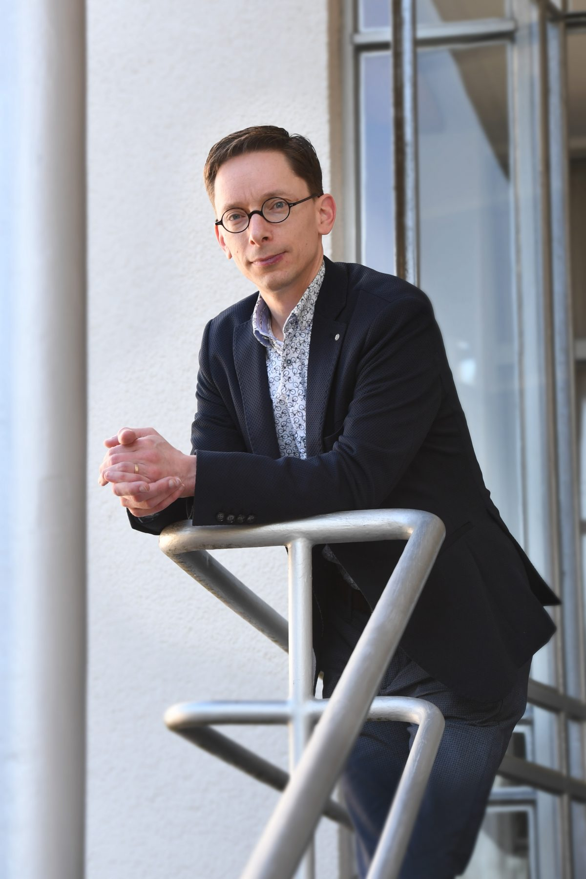 Christiaan Janssen, dirigent van Koninklijke Harmonie Aurora Grevenbicht Papenhoven