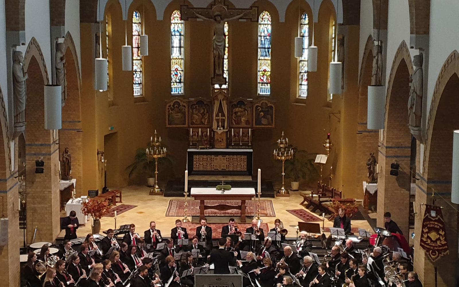 Kerkconcert van Koninklijke Harmonie Aurora Grevenbicht Papenhoven