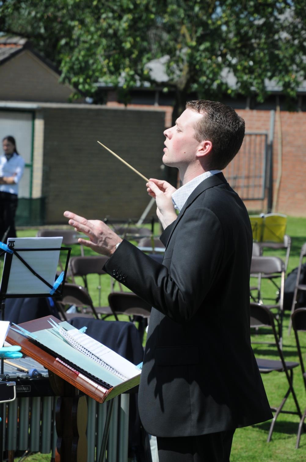 Timothy Geilen, instructeur van drumband Aurora Grevenbicht